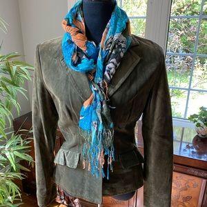 Danier Green Suede Leather Jacket